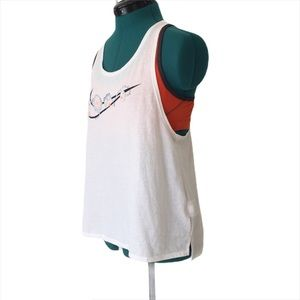 Nike Running Backless Dri-Fit White Tank, Medium